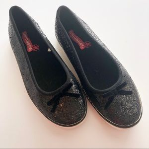 Union Bay Black Glitter Slip On Sneaker • Size 7.5